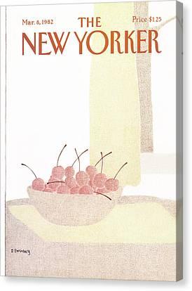 New Yorker March 8th, 1982 Canvas Print by Devera Ehrenberg