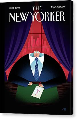 New Yorker March 9th, 2009 Canvas Print