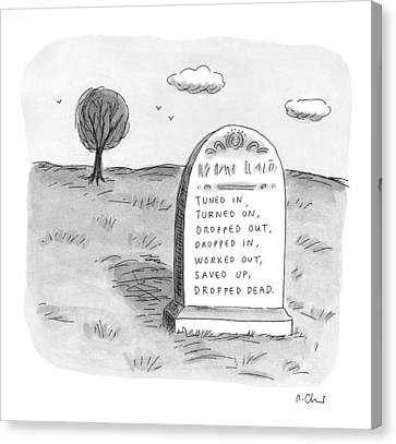 New Yorker May 11th, 1998 Canvas Print by Roz Chast