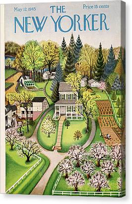 New Yorker May 12th, 1945 Canvas Print by Edna Eicke