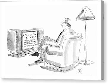 New Yorker May 14th, 1984 Canvas Print by Everett Opie