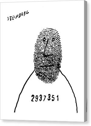 New Yorker May 15th, 1954 Canvas Print by Saul Steinberg