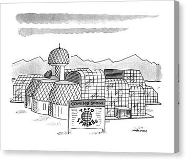 Fast Food Restaurant Canvas Print - New Yorker May 16th, 1994 by Mick Stevens