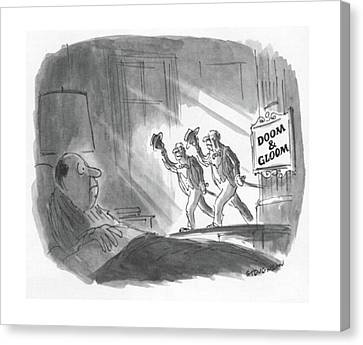 New Yorker May 17th, 1982 Canvas Print by James Stevenson