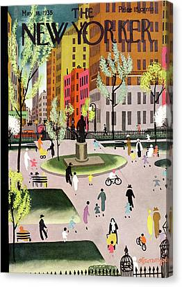 Monument Canvas Print - New Yorker May 18th, 1935 by Adolph K Kronengold