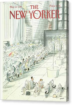 New Yorker May 18th, 1987 Canvas Print by Jean-Jacques Sempe