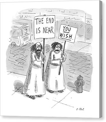 New Yorker May 19th, 1997 Canvas Print by Roz Chast