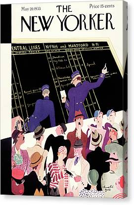 New Yorker May 20th, 1933 Canvas Print by Arnold Hall