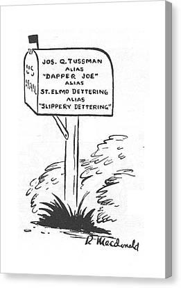 New Yorker May 20th, 1944 Canvas Print by Roberta Macdonald