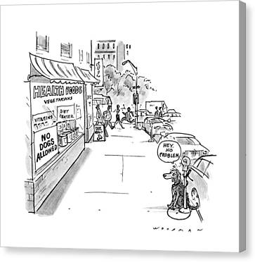 Food Store Canvas Print - New Yorker May 20th, 1991 by Bill Woodman