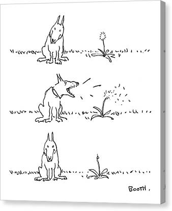 Captions Canvas Print - New Yorker May 22nd, 1978 by George Booth