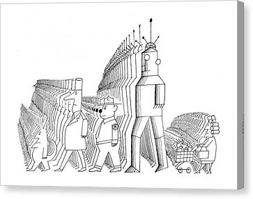 New Yorker May 25th, 1968 Canvas Print by Saul Steinberg