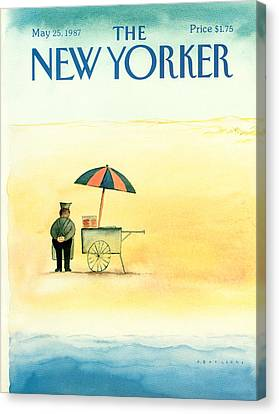New Yorker May 25th, 1987 Canvas Print by Abel Quezada
