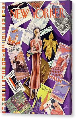 New Yorker May 28th, 1932 Canvas Print by Constantin Alajalov