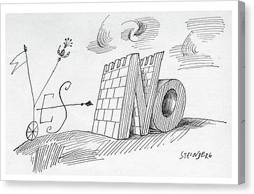 New Yorker May 28th, 1960 Canvas Print by Saul Steinberg