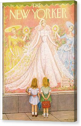Married Canvas Print - New Yorker May 29th, 1954 by Edna Eicke