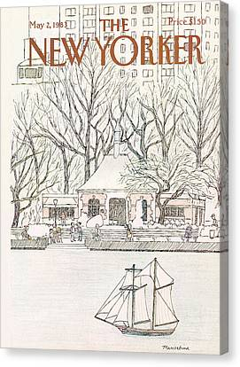 New Yorker May 2nd, 1983 Canvas Print by Marisabina Russo