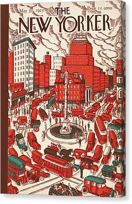 New Yorker May 30th, 1925 Canvas Print by Ilonka Karasz
