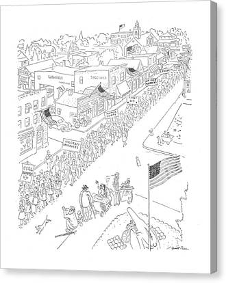 Observer Canvas Print - New Yorker May 30th, 1942 by Garrett Price