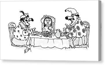 Husband And Wife Canvas Print - New Yorker May 30th, 1988 by William Steig