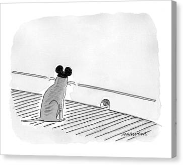 Ears Canvas Print - New Yorker May 31st, 1999 by Mick Stevens