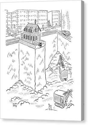 Threatening Canvas Print - New Yorker May 3rd, 1941 by Robert J. Day