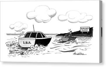 Rowboat Canvas Print - New Yorker May 4th, 1992 by J.B. Handelsman