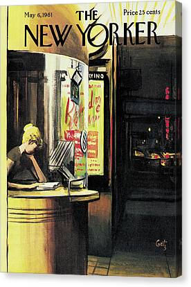 New Yorker May 6th, 1961 Canvas Print by Arthur Getz
