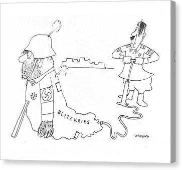 New Yorker May 8th, 1943 Canvas Print by Saul Steinberg