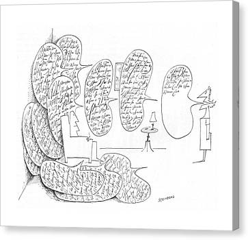 New Yorker May 8th, 1965 Canvas Print by Saul Steinberg