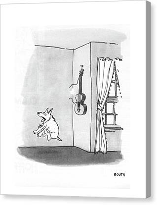 Puppies Canvas Print - New Yorker May 8th, 1971 by George Booth