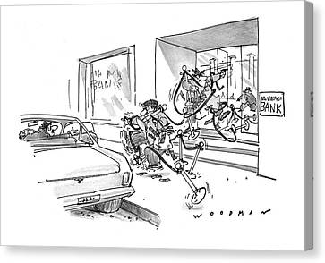 Gangs Canvas Print - New Yorker May 8th, 1978 by Bill Woodman