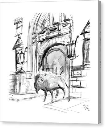 House Pet Canvas Print - New Yorker May 9th, 1988 by Everett Opie