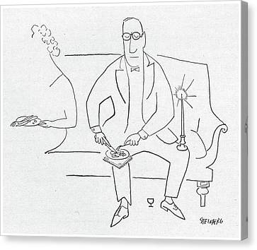 New Yorker November 11th, 1950 Canvas Print by Saul Steinberg