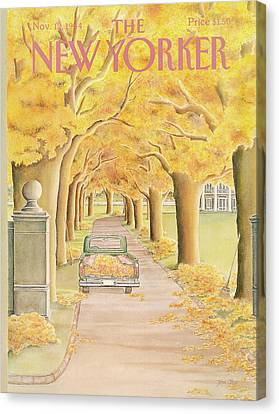 New Yorker November 12th, 1984 Canvas Print by Jenni Oliver