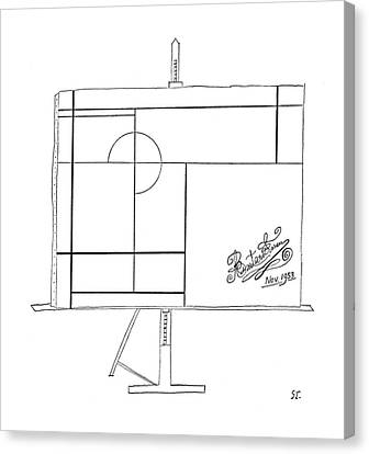 New Yorker November 14th, 1953 Canvas Print