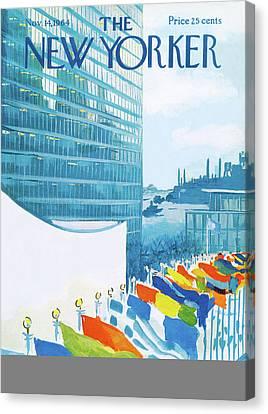 New Yorker November 14th, 1964 Canvas Print by Arthur Getz