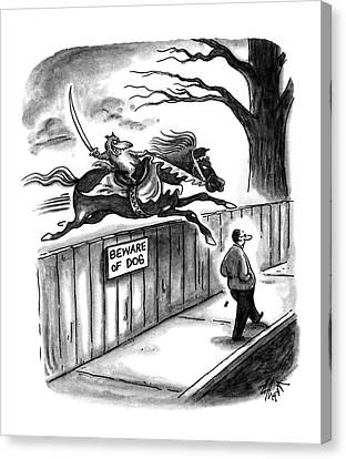 New Yorker November 14th, 1994 Canvas Print by Frank Cotham