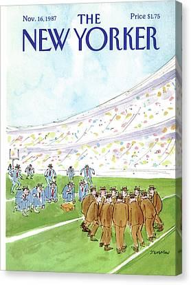 New Yorker November 16th, 1987 Canvas Print
