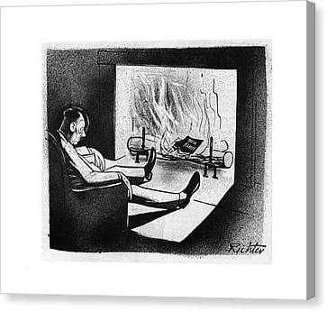 Replacing Canvas Print - New Yorker November 18th, 1944 by Mischa Richter
