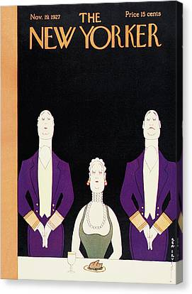 New Yorker November 19th, 1927 Canvas Print by Rea Irvin
