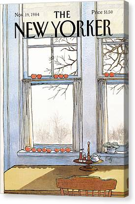 New Yorker November 19th, 1984 Canvas Print by Arthur Getz
