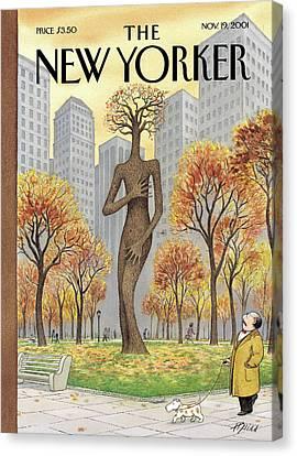 New Yorker November 19th, 2001 Canvas Print