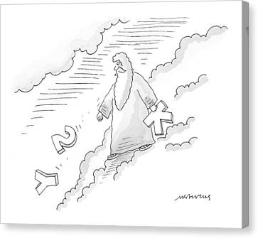 New Yorker November 1st, 1999 Canvas Print by Mick Stevens