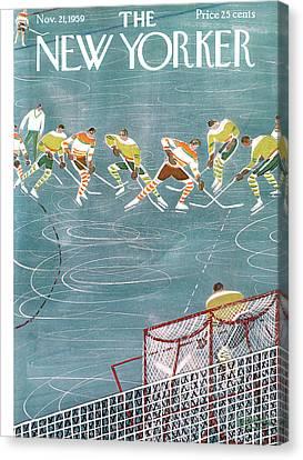 New Yorker November 21st, 1959 Canvas Print by Anatol Kovarsky