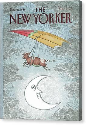 Nursery Rhymes Canvas Print - New Yorker November 21st, 1988 by John O'Brien