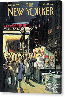 New Yorker November 22nd, 1958 Canvas Print by Arthur Getz