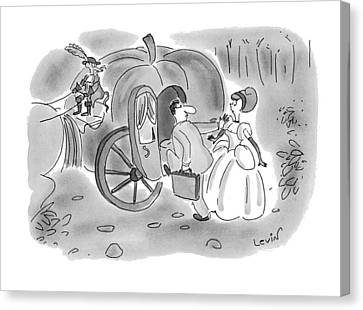 New Yorker November 22nd, 1993 Canvas Print by Arnie Levin