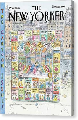 New Yorker November 22nd, 1999 Canvas Print by Roz Chast
