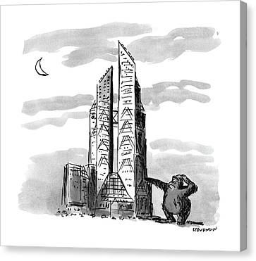 New Yorker November 23rd, 1987 Canvas Print by James Stevenson